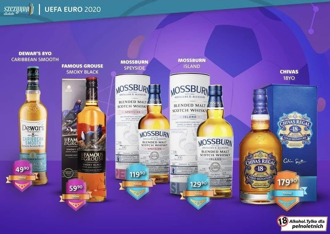 Whisky Dewar's Caribbean Smooth 0.7 i inne -Szczyrba Alkohole