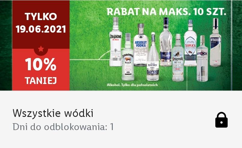Wszystkie wódki 10% taniej