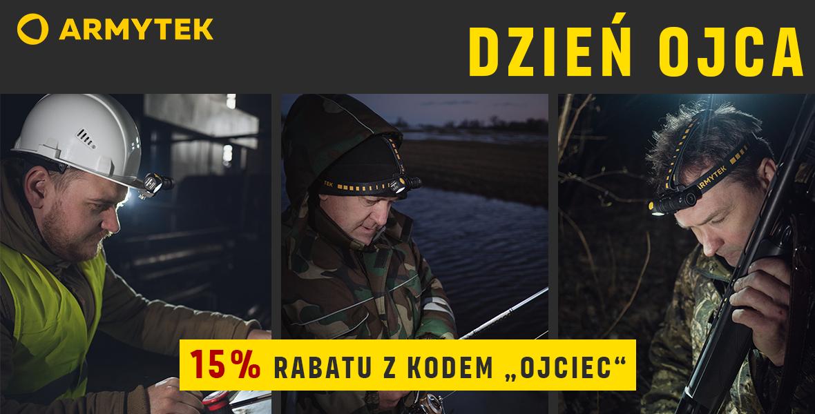 Rabat -15% na wszystkie latarki i akcesoria Armytek z okazji dnia Ojca