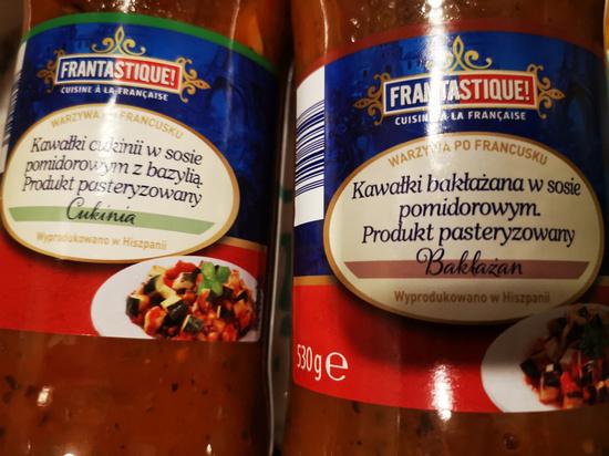 Hiszpański sos z warzywami FANTASTIQUE 530g Cukinia lub Bakłażan
