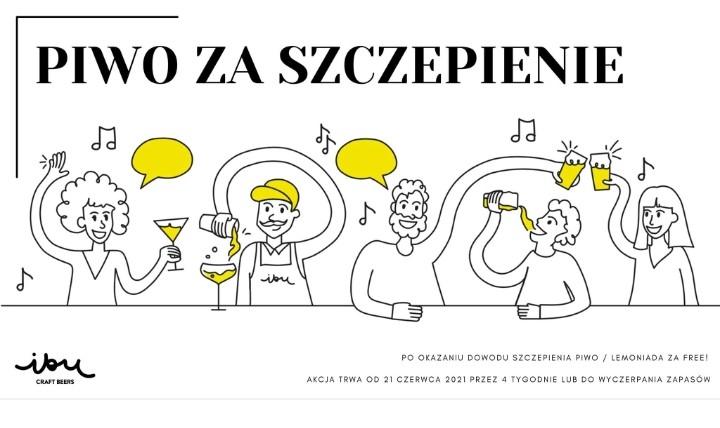 Piwo lub lemoniada gratis za zaszczepienie   IBU Craft Beers Gliwice  