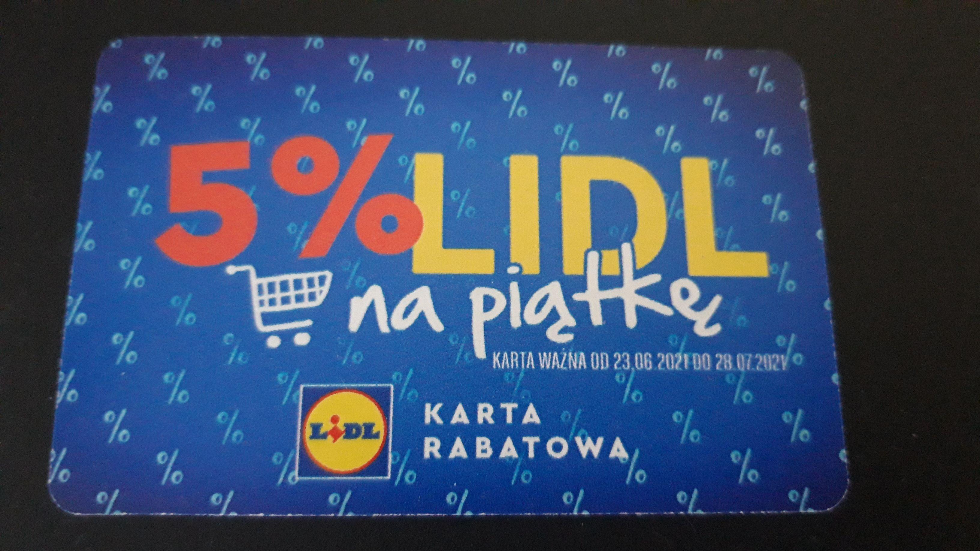 Karta rabatowa -5% na zakupy w Lidl Płock w dniach 23.06-28.07.2021r.