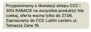 Likwidacja sklepu CCC Lublin