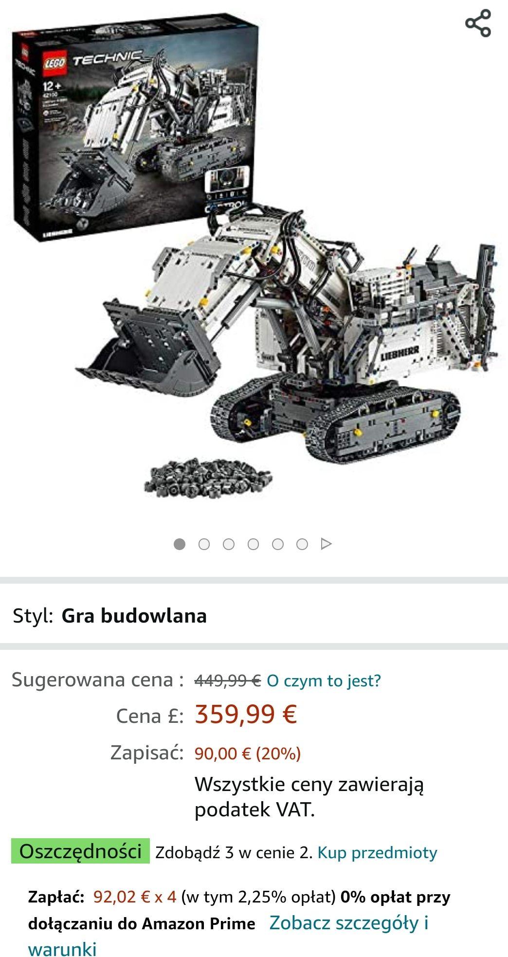 3 za 2 na wybrane LEGO w Amazon.fr