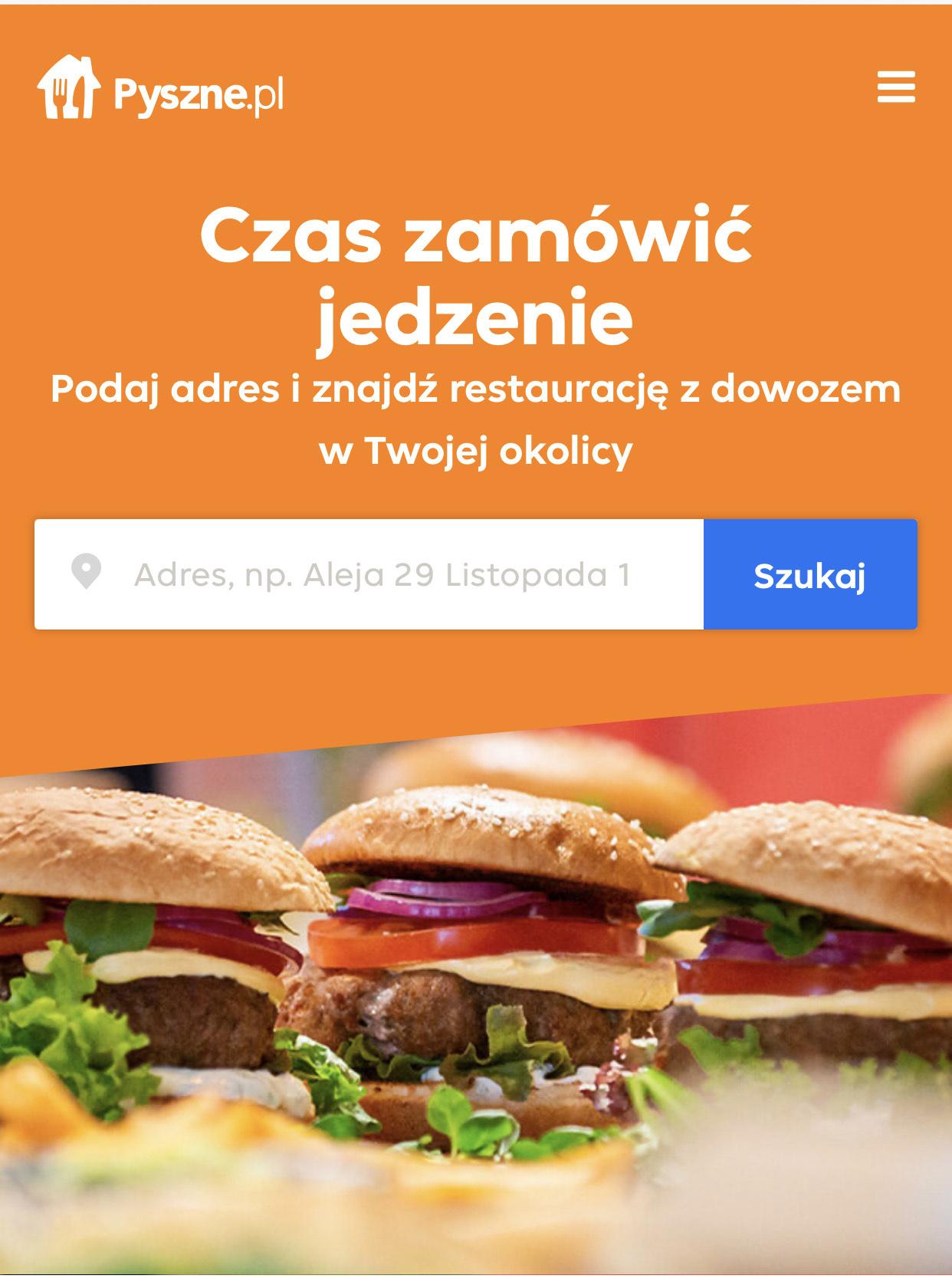 Pyszne.pl zniżka 10 zł. MWZ 30 zł