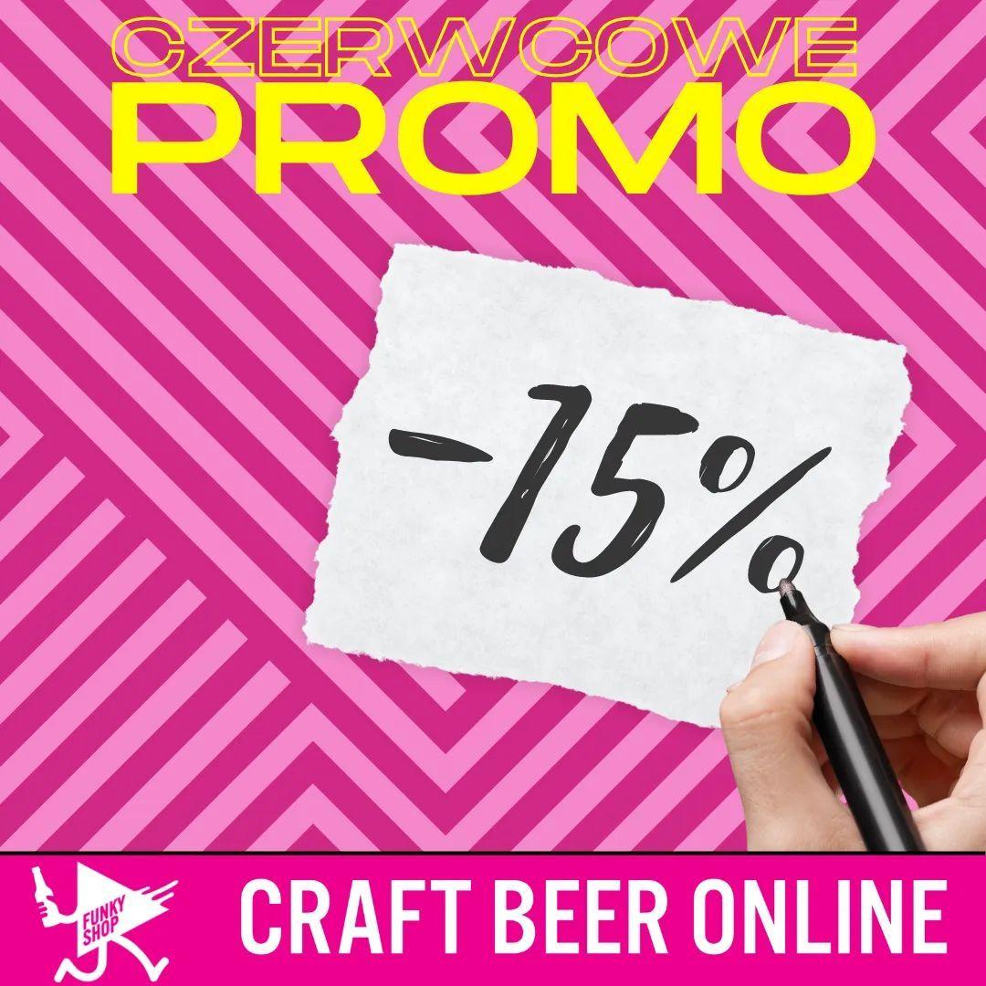 15% rabatu na wszystkie piwa w Funky Shopie
