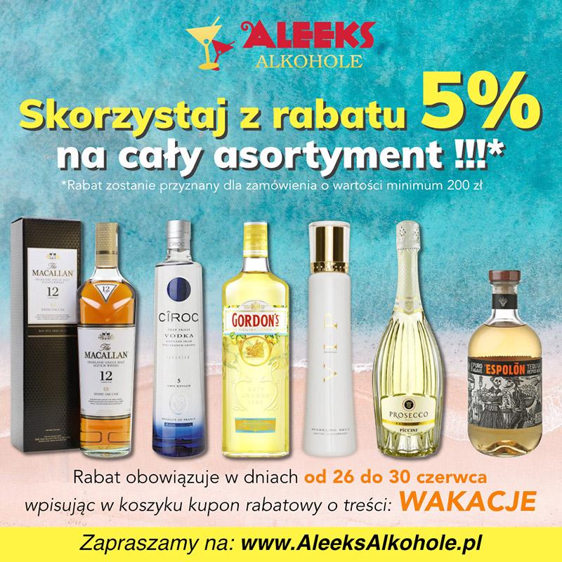 Whisky, Whiskey, Bourbon i inne alkohole z 5 % rabatem w Aleeksalkohole.pl