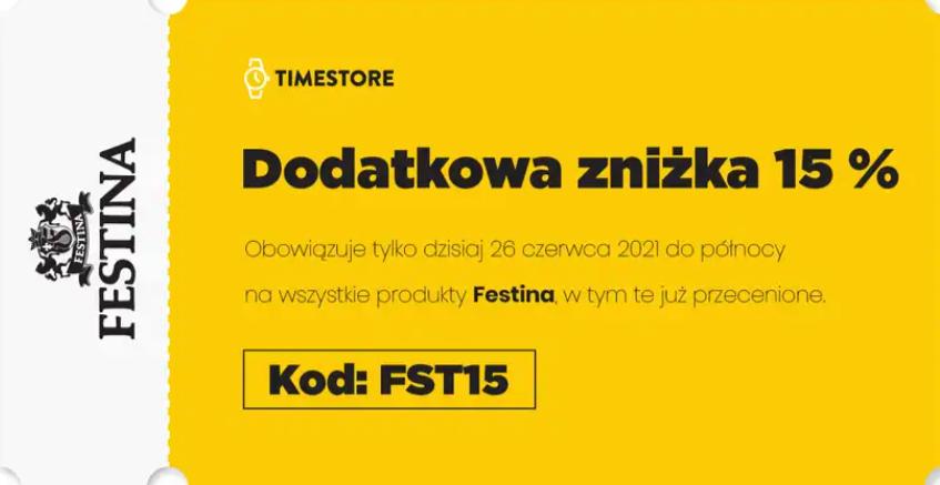 Zegarki Festina dodatkowe -15%
