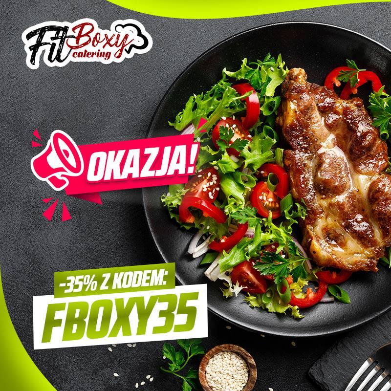 """Teraz na Fitboxy.pl oszczędzisz 35% z kodem """"FBOXY35"""". Dieta dla wymagających !"""