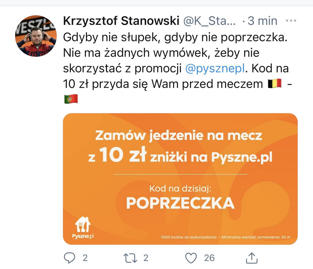Pyszne.pl kod na 10 zł - mwz 30 zł