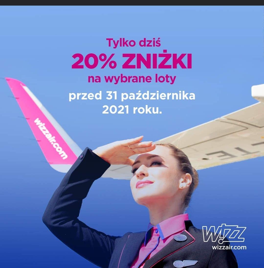Zyskaj 20% zniżki, latając z WIZZ. Tylko dziś
