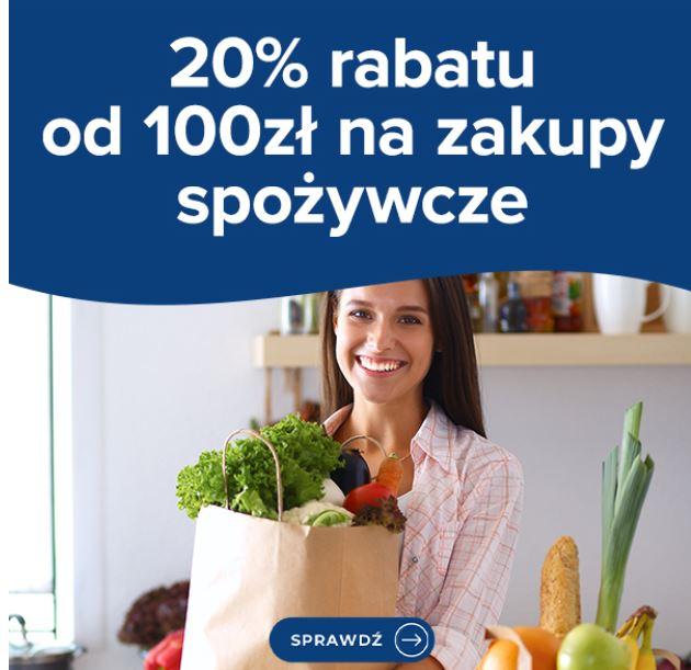 Dzisiaj -20% od zamówień za min. 100 zł Carrefour