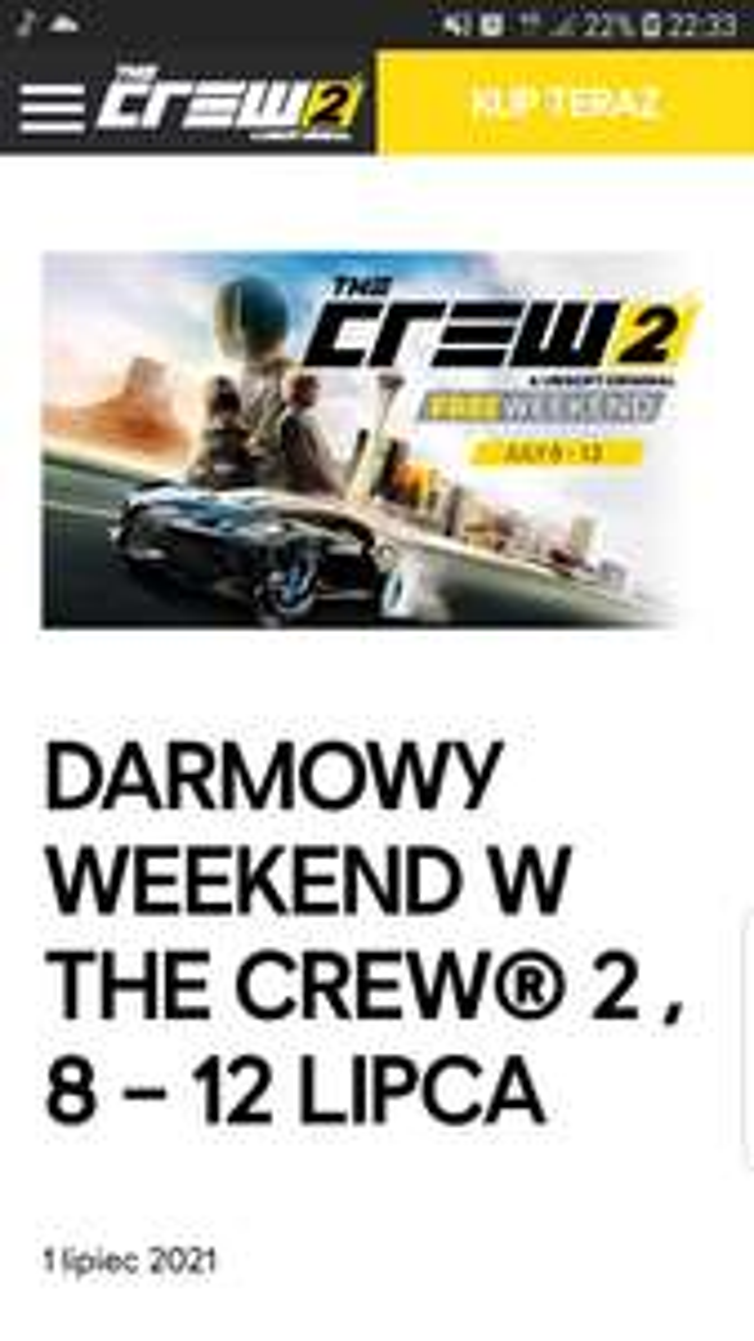 DARMOWY WEEKEND W THE CREW® 2 , 8 – 12 LIPCA