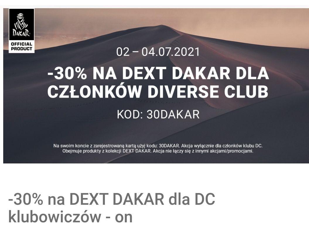 Diverse -30% na DEXT DAKAR dla DC klubowiczów