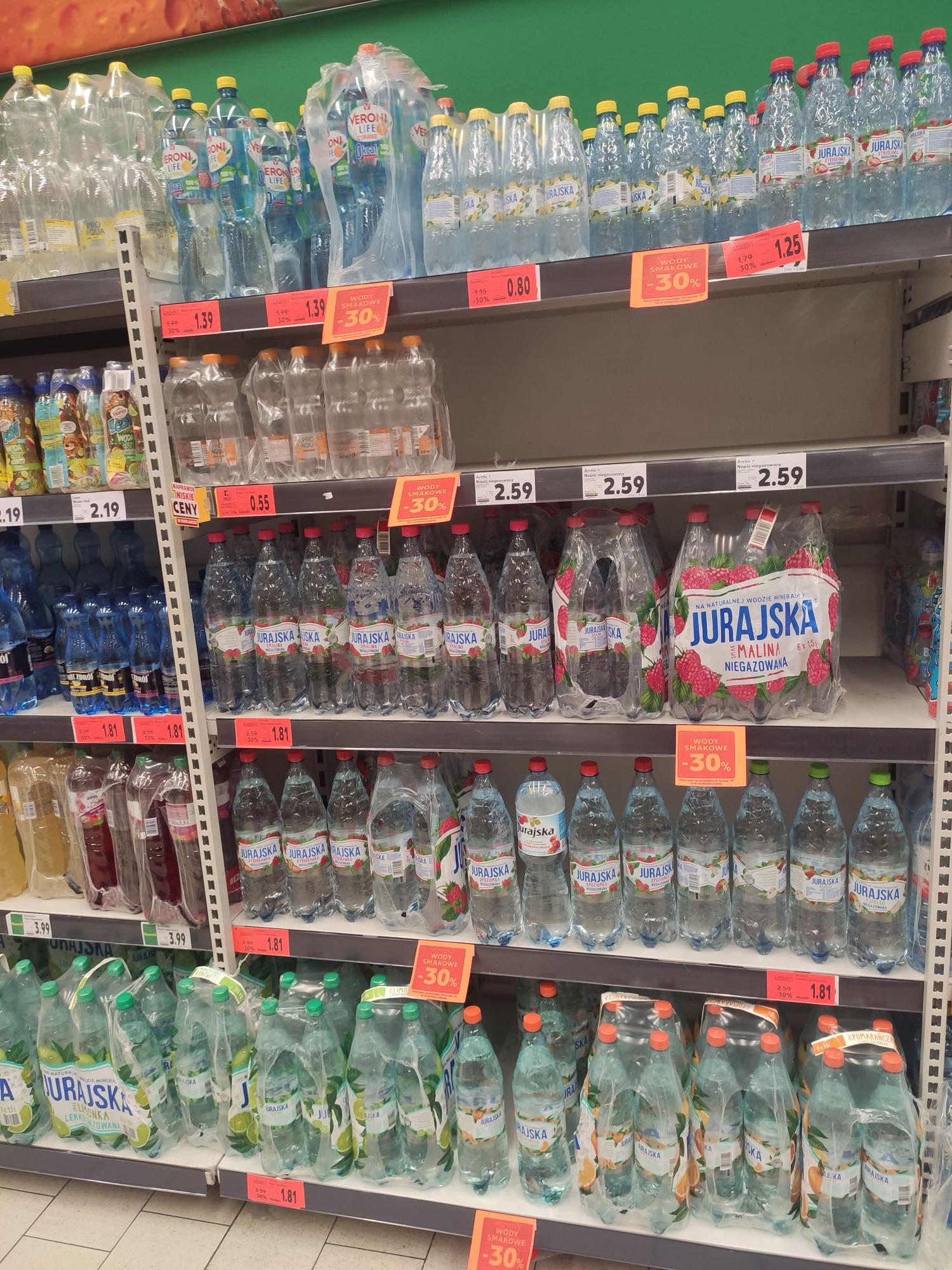 Wszystkiego wody smakowe -30 % kaufland