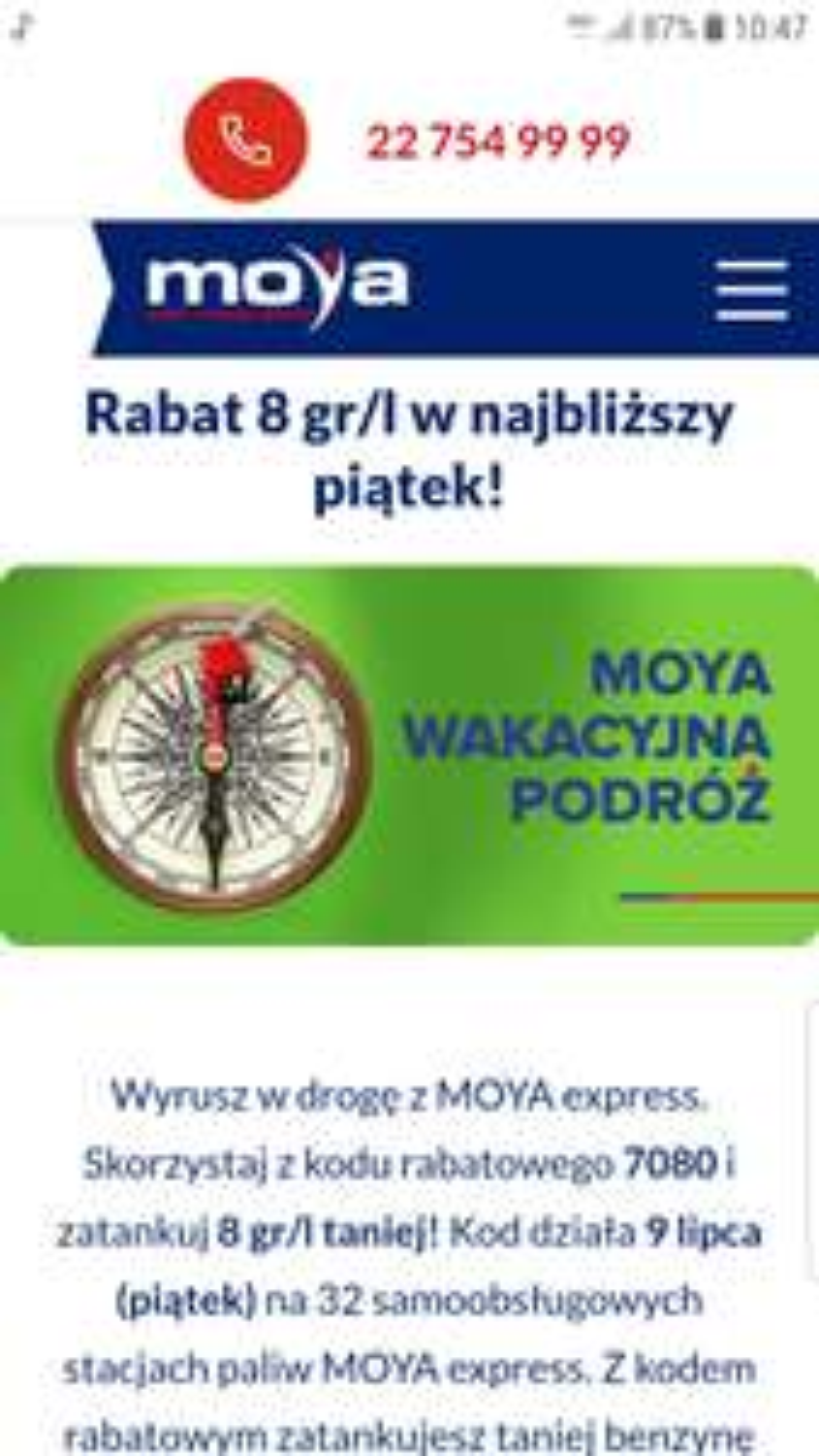 Ponownie obniżka cen paliw na stacjach MOYA Express
