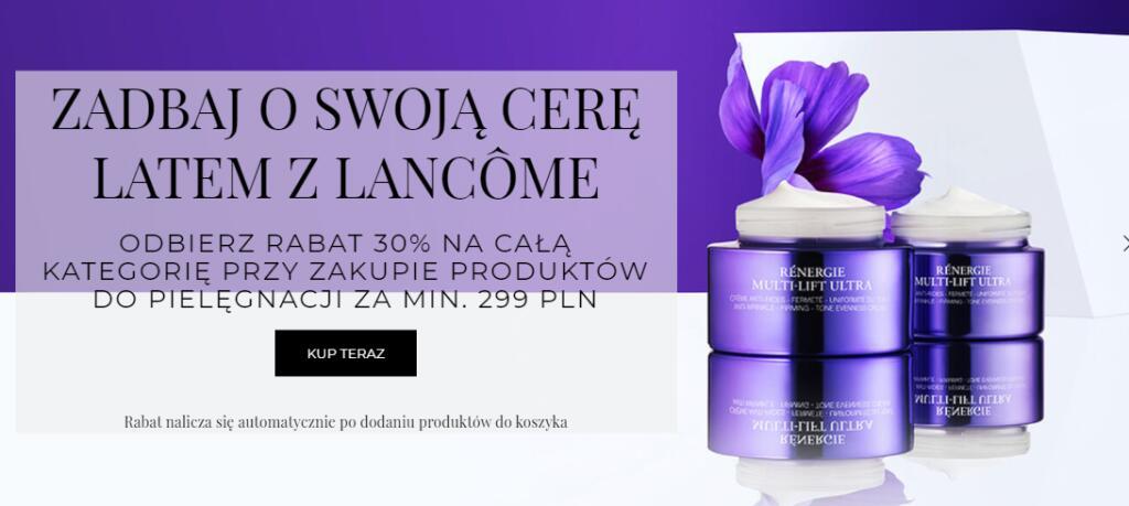 -30% na produkty pielęgnacyjne Lancome + gratisy
