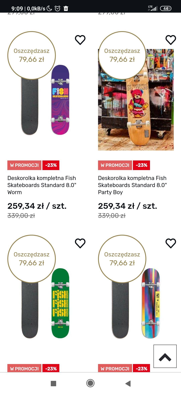 -15% + kod na Deskorolki polskiej firmy Fishskateboards