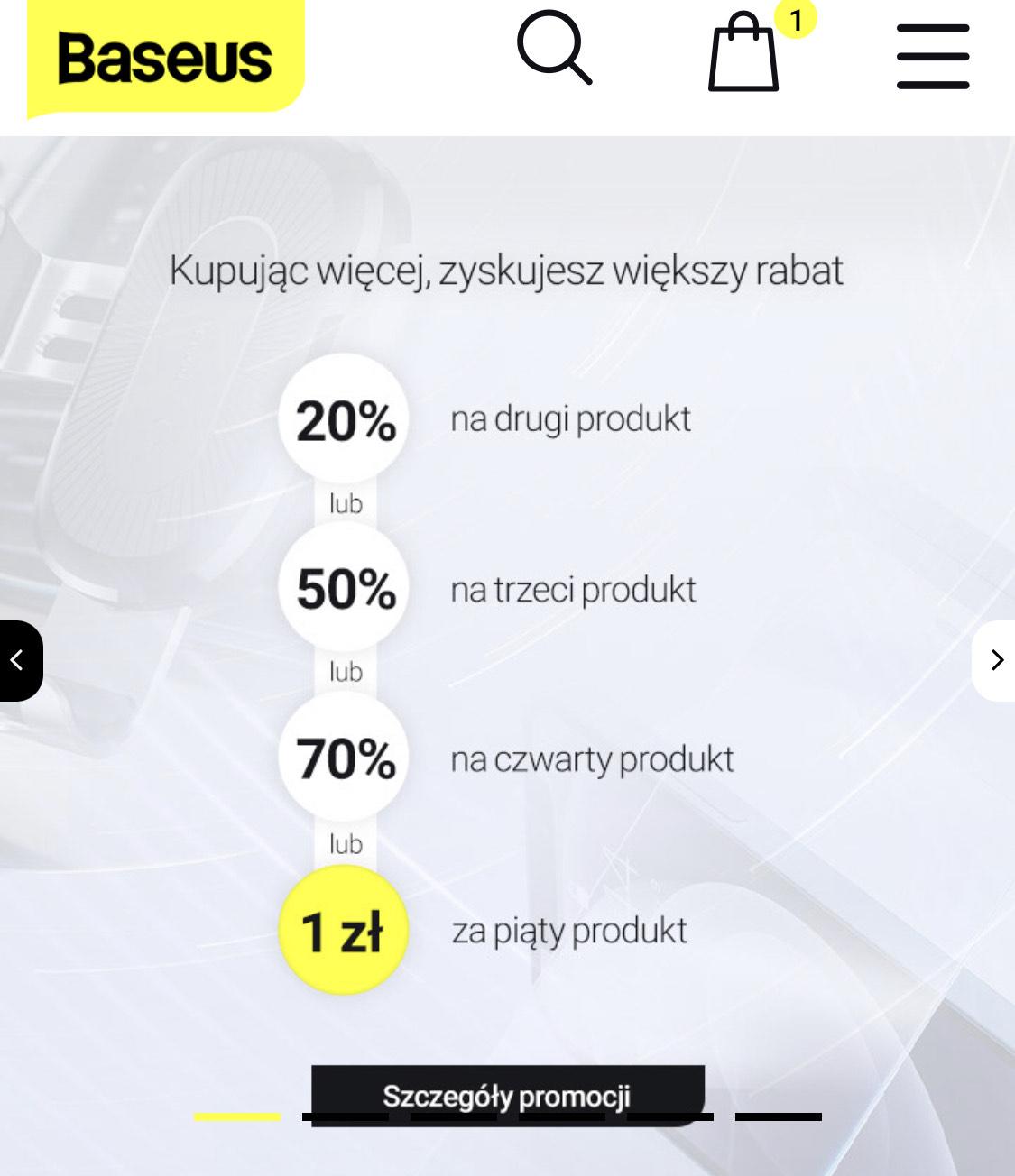 Kod rabatowy min. 20% na zakupy w BASEUS