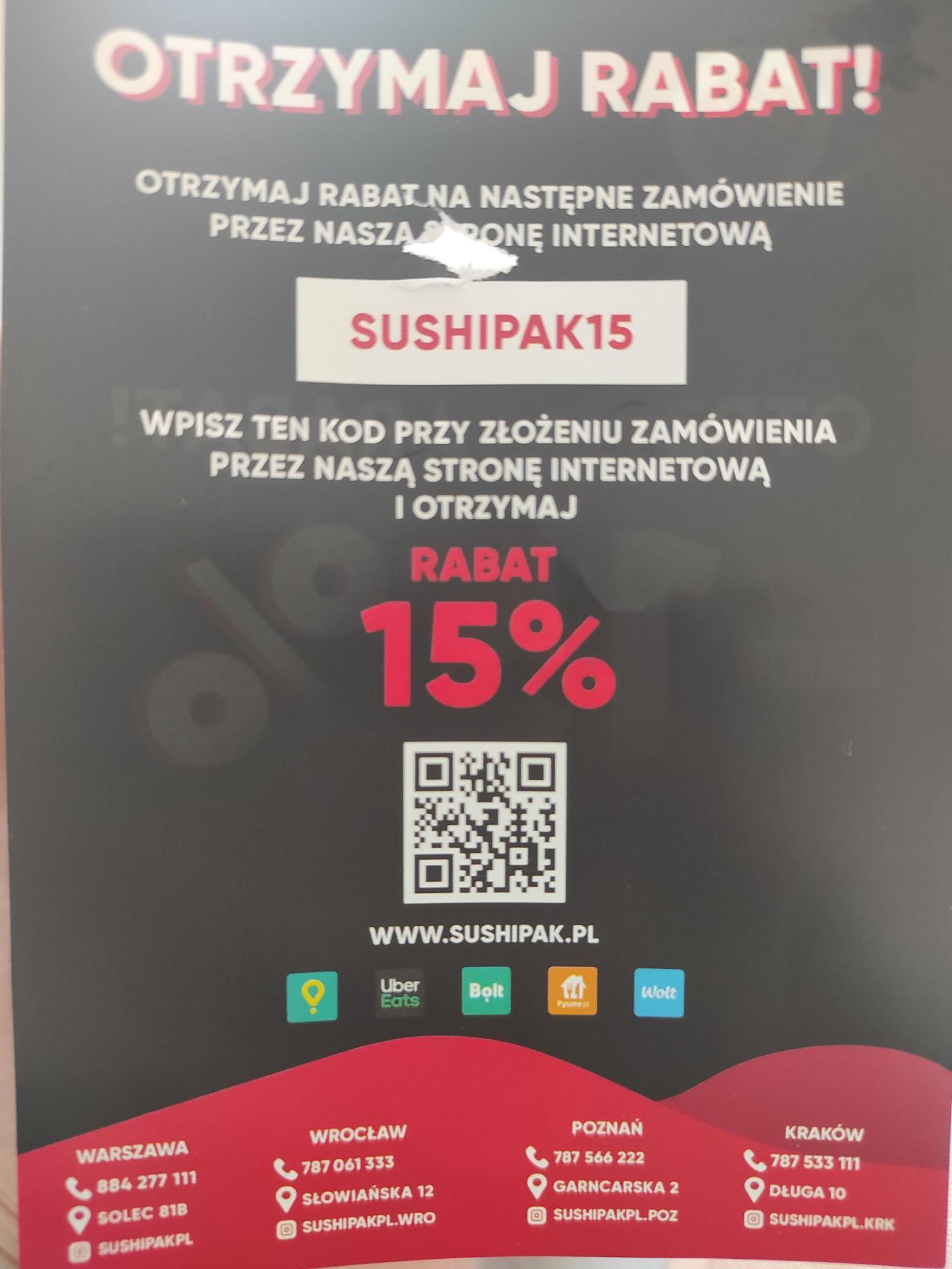 SUSHI PAK - 15%