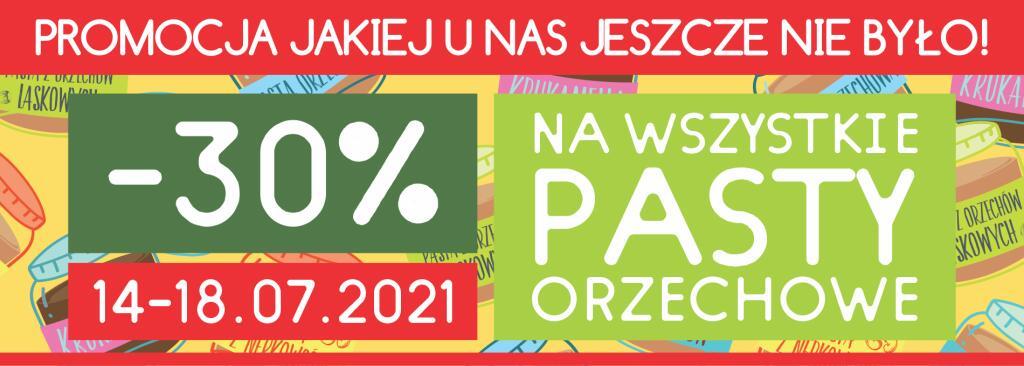 -30% (możliwe -40%) na wszystkie pasty orzechowe w KruKam.pl