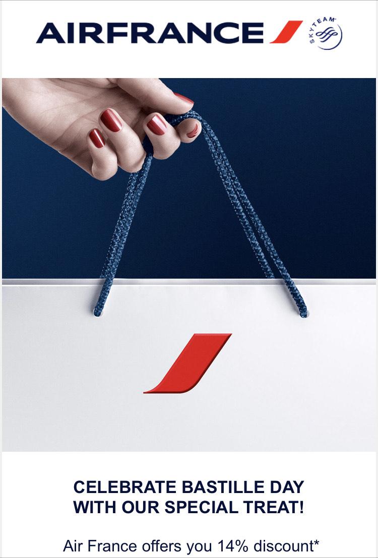 Air France promocje z okazji Dnia Bastylii