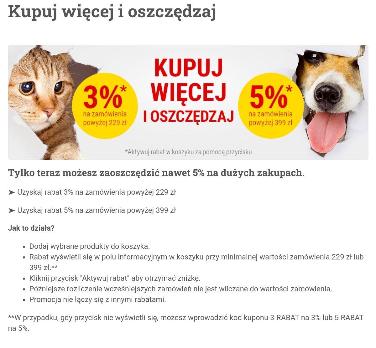 Bitiba 3% zniżki mwz 229 oraz 5% zniżki mwz 399zł sklep z artykułami dla zwierząt