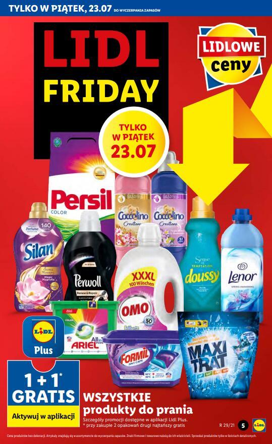 Wszystkie produkty do prania 1+1 gratis (2 w cenie 1) - tylko 23.07 (piątek) @Lidl