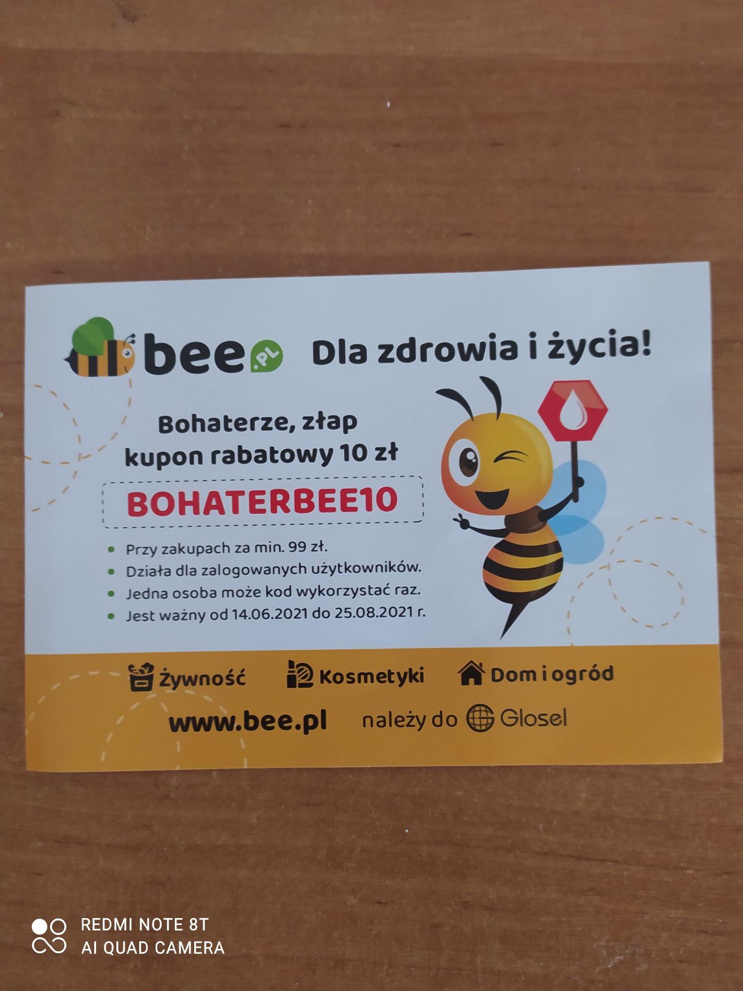10 zł zniżki na bee.pl