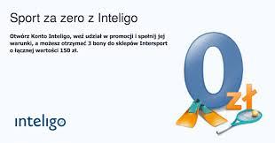 150zł w postaci bonu do Intersportu za założenia konta Inteligo. Banalne warunki