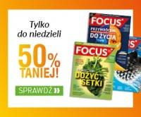 Roczna prenumerata magazynu Focus 50% taniej do 13.08.2017