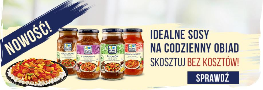 Orientalne sosy Bluedragon (orzechowy, czosnkowy, słodko-kwaśny oraz 5 smaków) ZA DARMO!