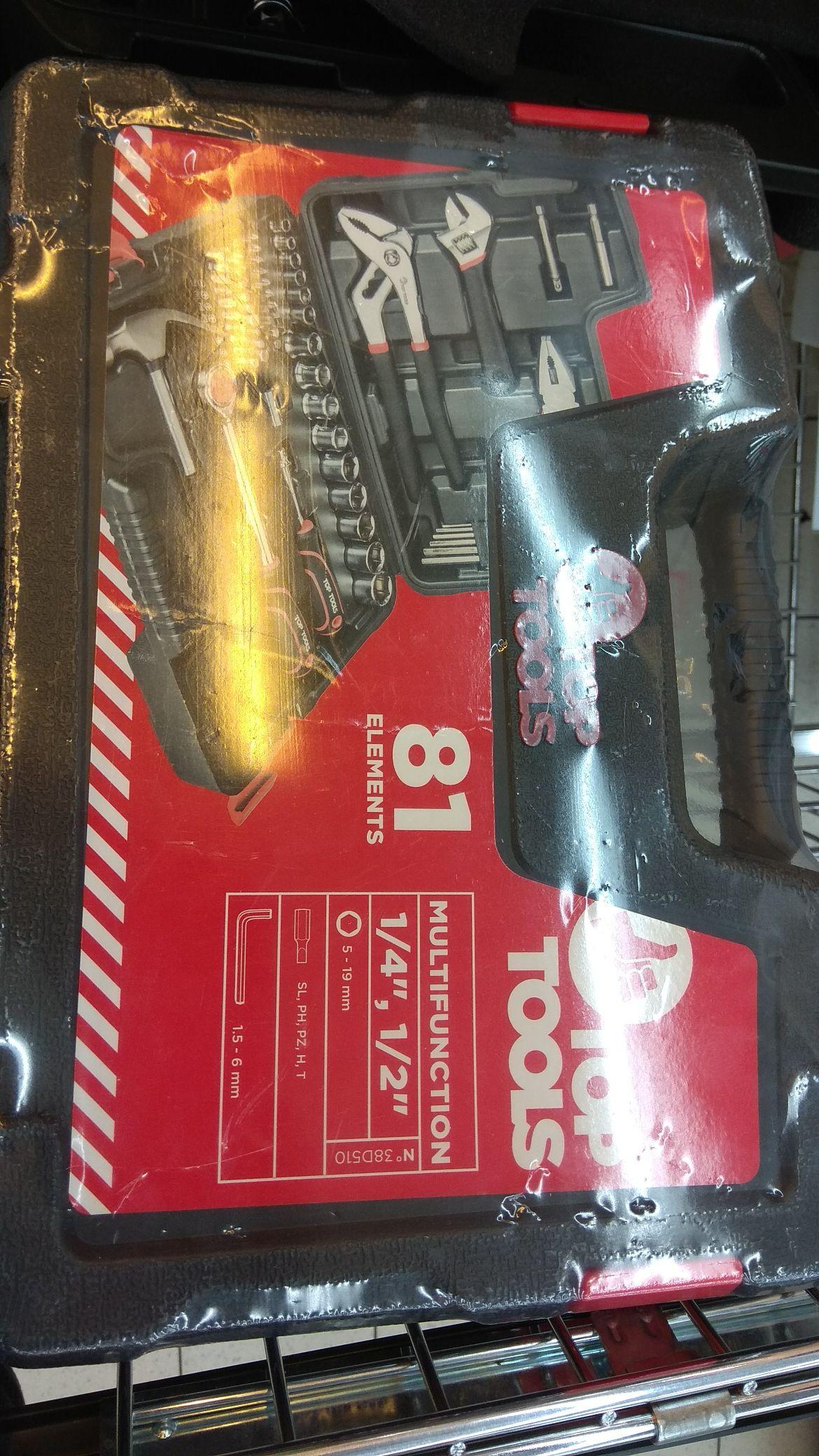 Zestaw narzędziowy z akcesoriami Top Tools 81elementów  $18,97