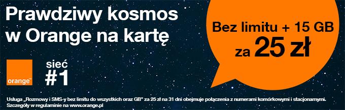 Nowa oferta Orange Bez limitu + 15 GB.