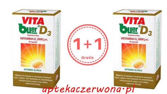 VITA BUER D3 2000 j.m. 60 kapsułek (1+1 gratis)