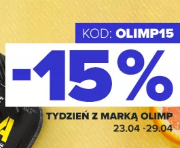 RABAT 15% NA WSZYSTKIE PRODUKTY MARKI OLIMP + 10 ZŁ ZNIŻKI BODYPAK.PL