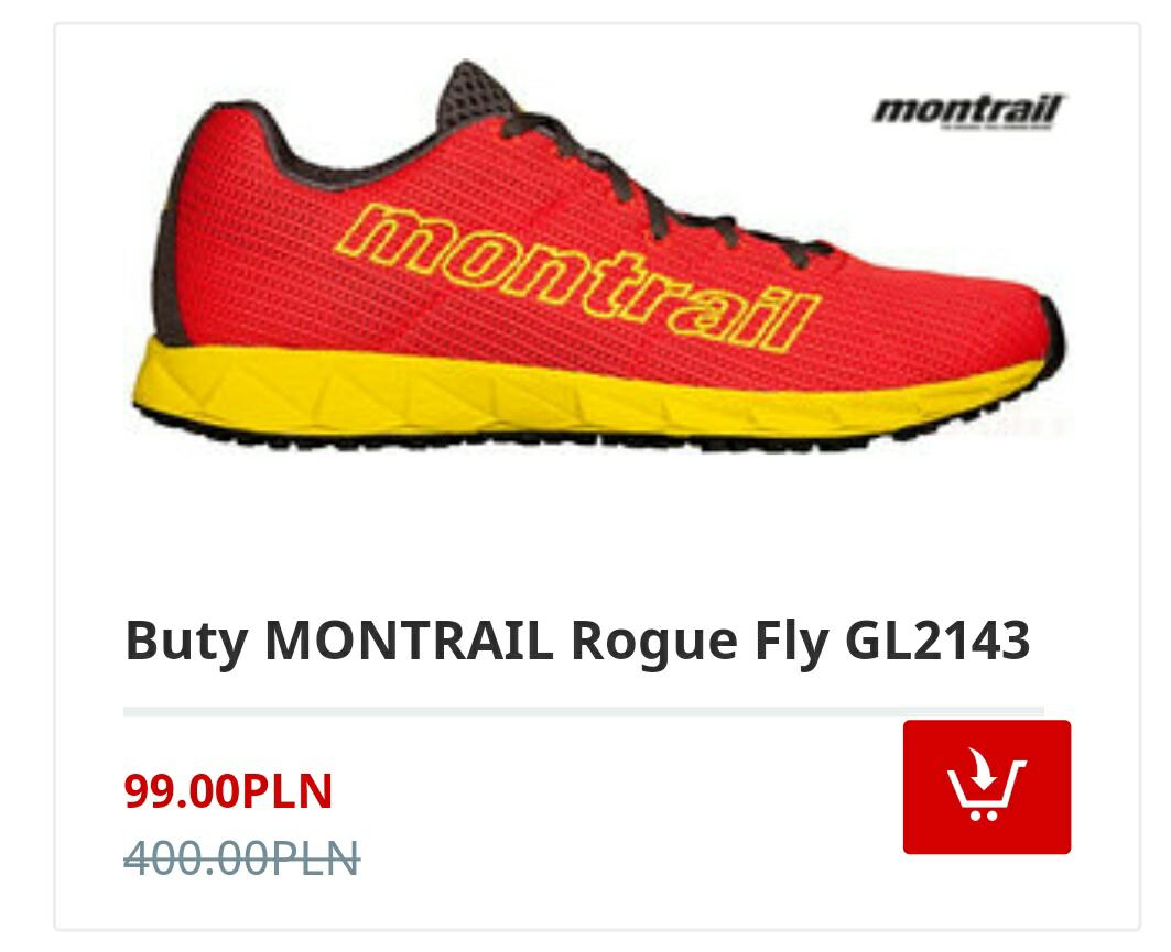 Buty MONTRAIL Rogue Fly GL2143 (damskie rozmiar 37,5 EUR)