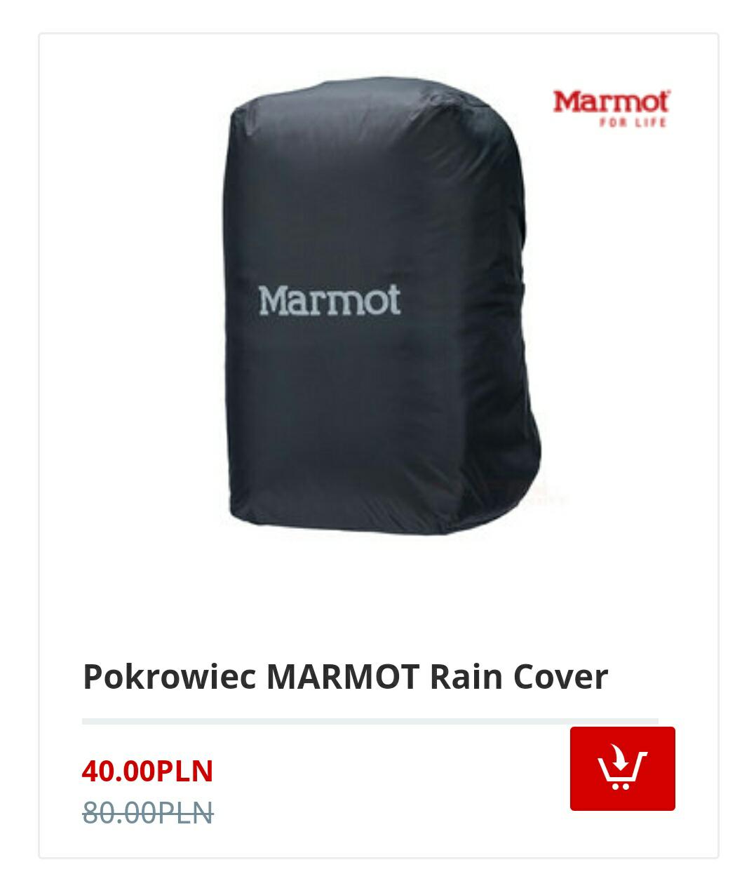 Uniwersalny wodoodporny pokrowiec MARMOT na plecak do 32l
