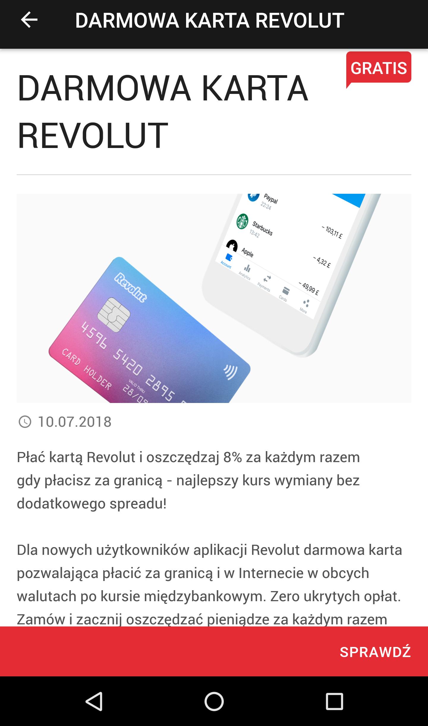 [Revolut] Darmowa karta dla nowych kont - tym razem przez aplikację Yanosik