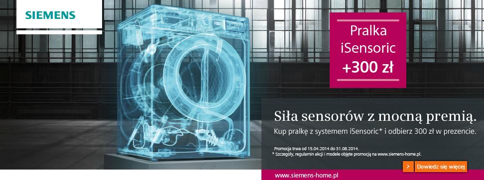 Cashback 300zł przy zakupie pralki Siemens z funkcją iSensoric @ Siemens